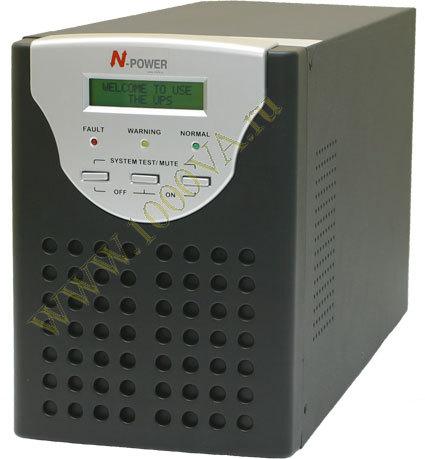 Источник бесперебойного питания (ИБП) N-Power Master-Vision 2000 построен по схеме On-Line с двойным преобразованием...