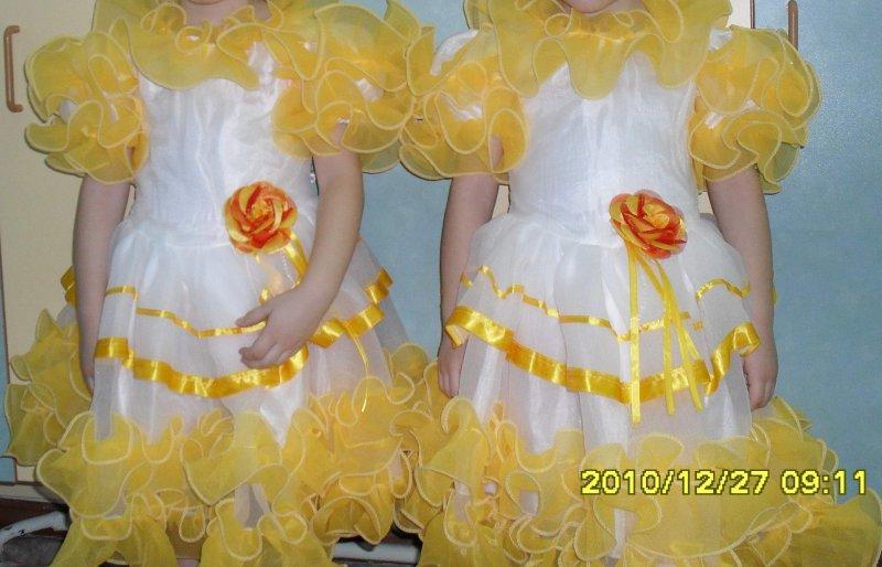 Как украсить детское платье на утренник своими руками
