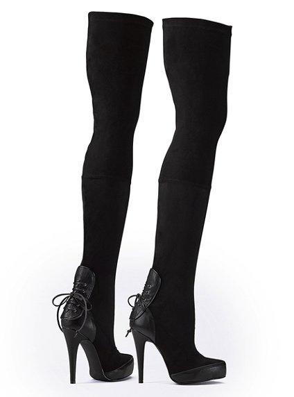 Сапоги-чулки, размер 38-39.  Низ-кожа, верх - бархатистая ткань.