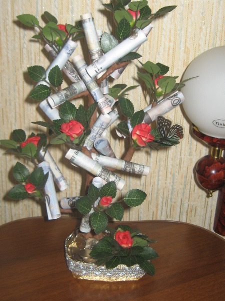 Поздравление подарок денежное дерево