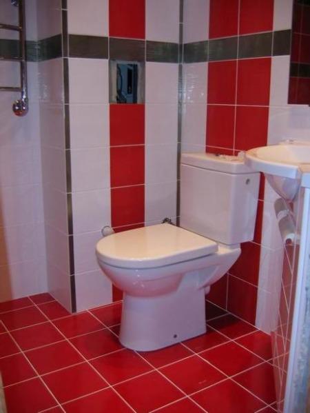 Ванная комната в ярких тонах, фото 2014