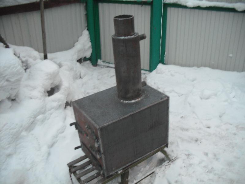 Печка с водяным контуром своими руками фото