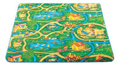 Размеры: 2000 х 1450 х 5 ммартикул: 605013расцветка: дорогидля продления срока службы коврики обшиты тканевой