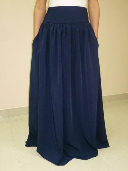 Длинная юбка на широкой резинке своими руками 26