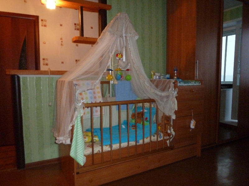 Комплект в кроватку (балдахин, 4 бортика-противоударники, одеяло + пододеяльник, подушка + наволочка), бежевый цвет...