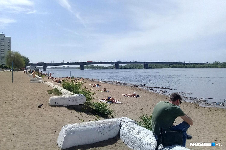 Омск фото с пляжа