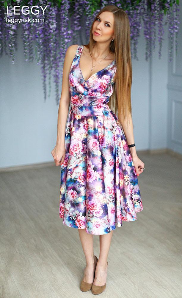 Платье миди фото лето