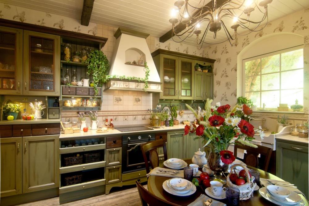 кухня в стиле прованс в частном доме фото