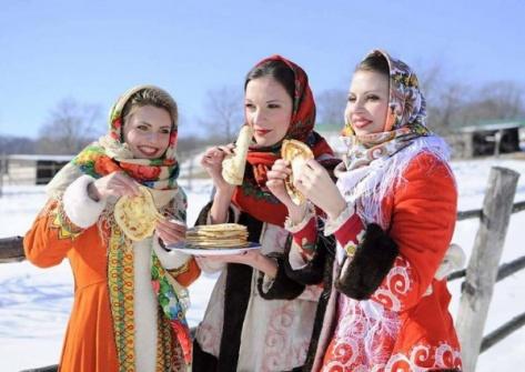 Блины, чучело зимы, народные песни на земле древних шаманов