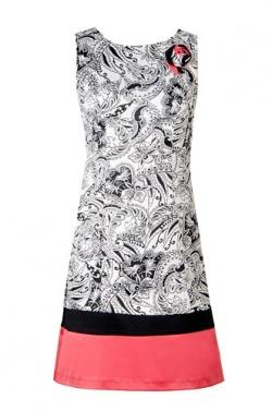 выкройки платья с цельнокроенным рукавом.