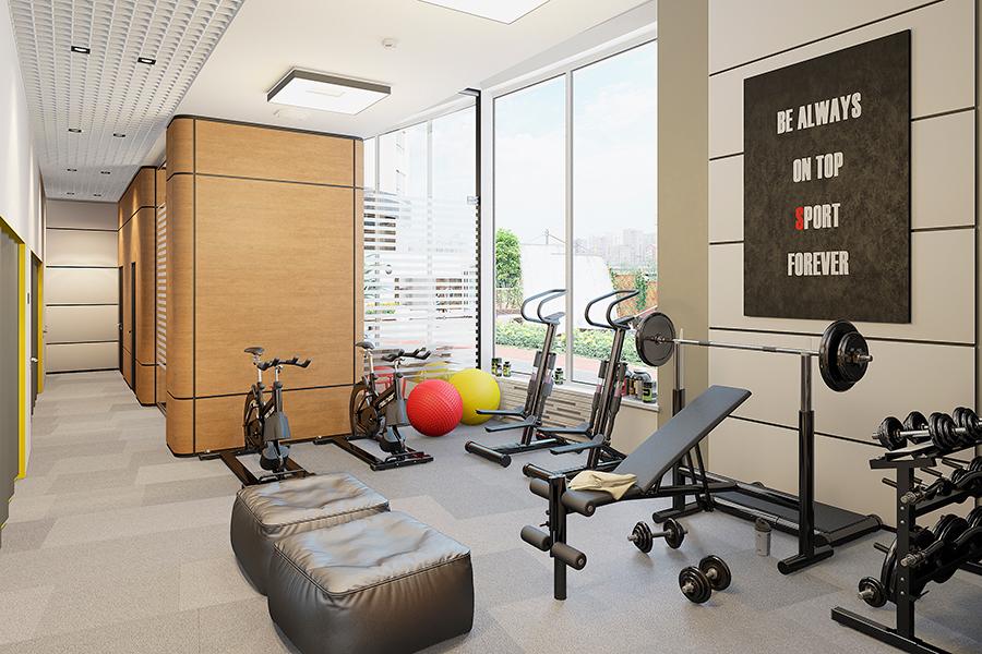 Помимо бассейна в спортивный комплекс войдут прекрасно оснащенные тренажерные залы и зона фитнеса.