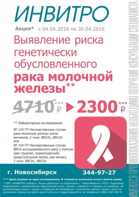Выявление риска генетически обусловленного рака молочной железы