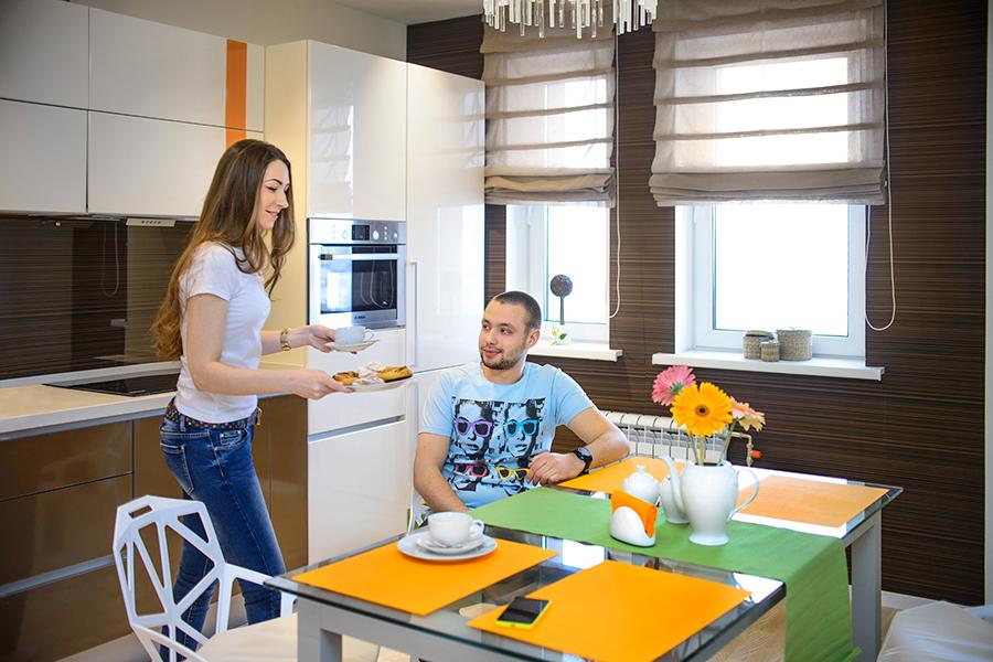 Дизайн квартиры настолько продуман, удобен и элегантен, что хочется здесь остаться и жить. Будущие покупатели квартир смогут сразу представить и прочувствовать, как это будет — жить в «Европейском».
