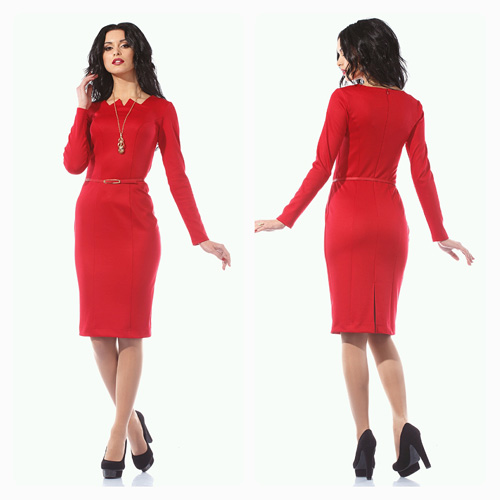 Фото строгие красные платья