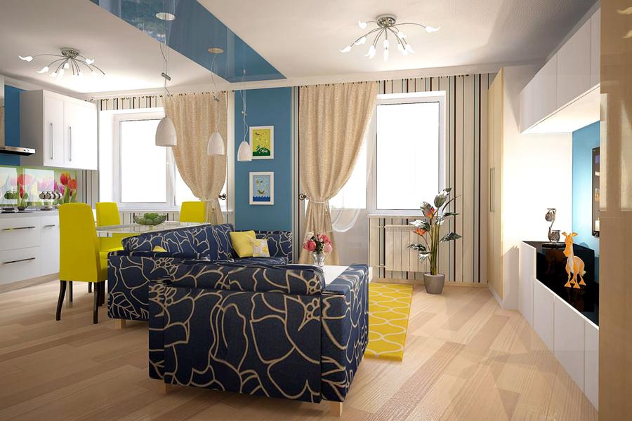 Дизайн квартиры в 33 кв м