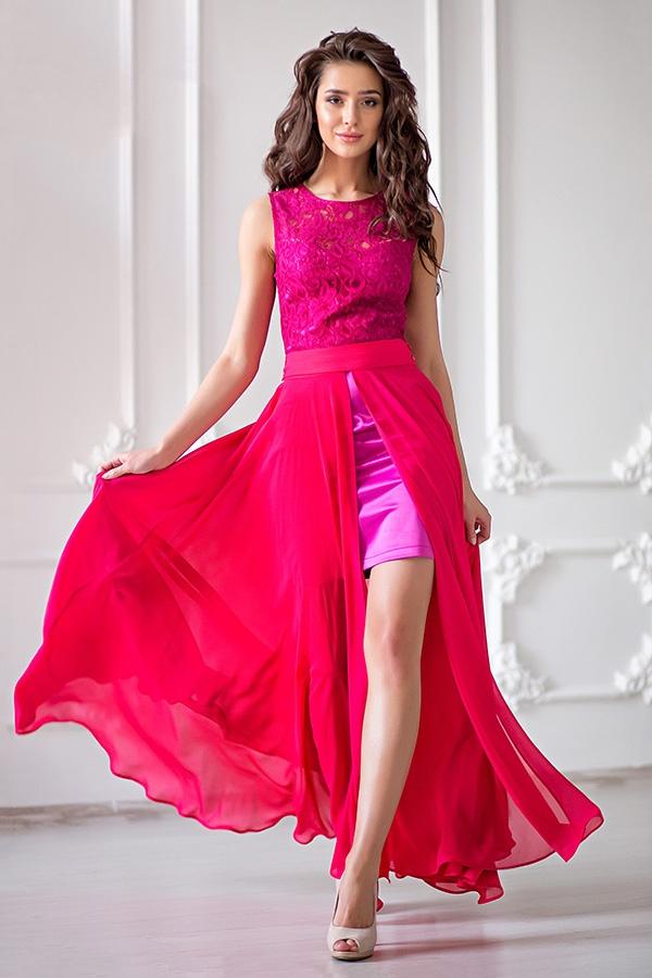 Платье юбка из шифона фото