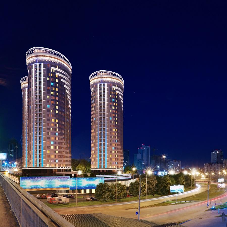 Жилой комплекс «Флотилия» имеет уникальную локализацию — он безупречно вписан в панораму нового центра Новосибирска. Композиционная ось нового центра — Октябрьская магистраль, а «Флотилия» — яркий акцент.