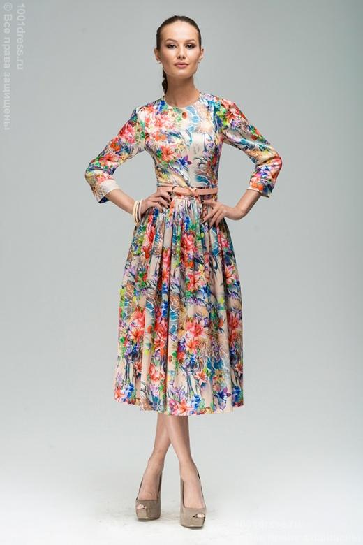 платья длина миди фото