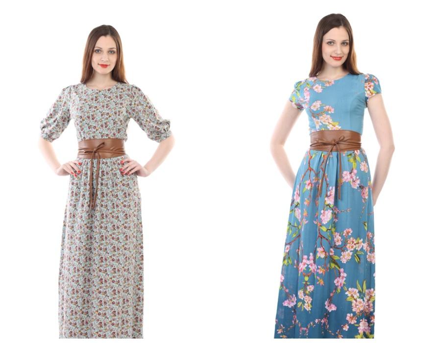 Летние длинные платья фасоны