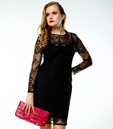 Маленькое платье с кружевом