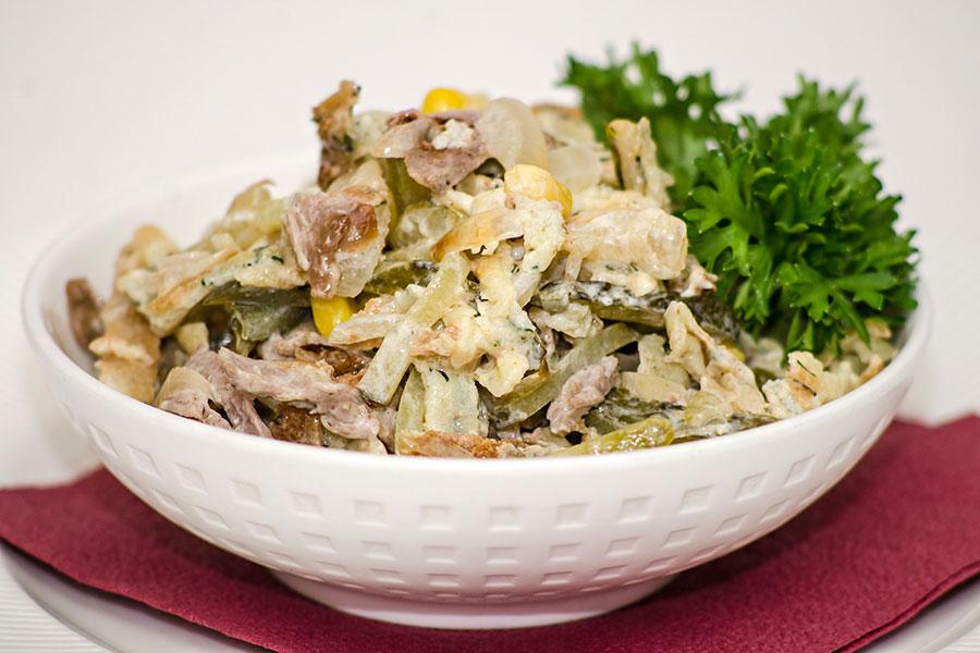 Салат мужской рецепт с с говядиной