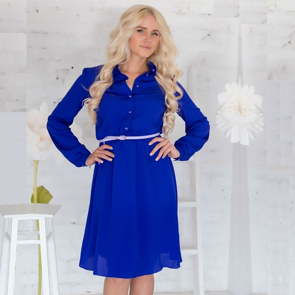 Платья ультрамаринового цвета