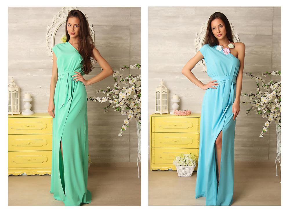 Фото платьев в пол мятного цвета