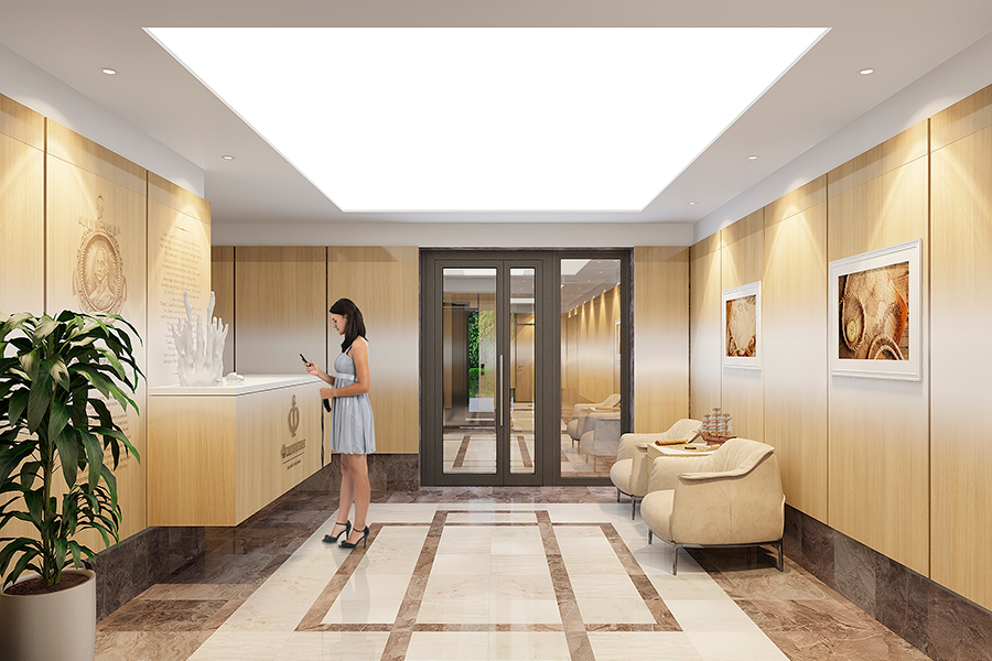 В вестибюлях домов ЖК«Флотилия» — великолепные просторные холлы. Дизайнерские интерьеры выполнены в мягких оттенках экостиля с применением современных качественных материалов.