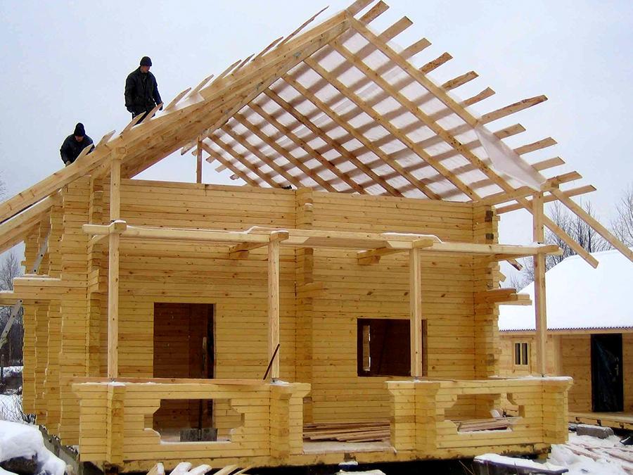 Как сделать дом из деревянного бруса 349
