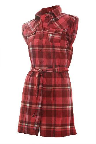 Платье сарафан в красную клетку