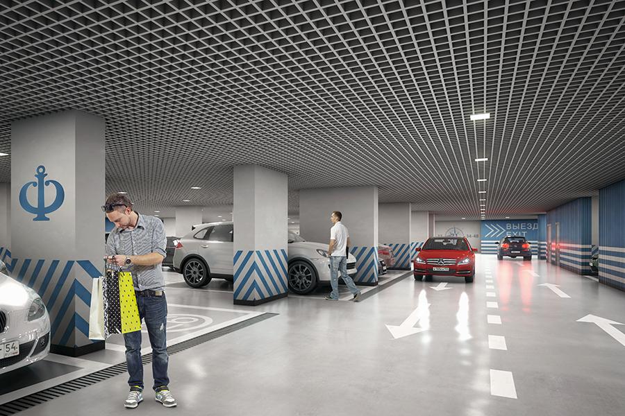 Для автомобилей предусмотрена двухуровневая подземная парковка. За благоустройство комплекса и решение всех бытовых вопросов отвечает собственная управляющая компания.