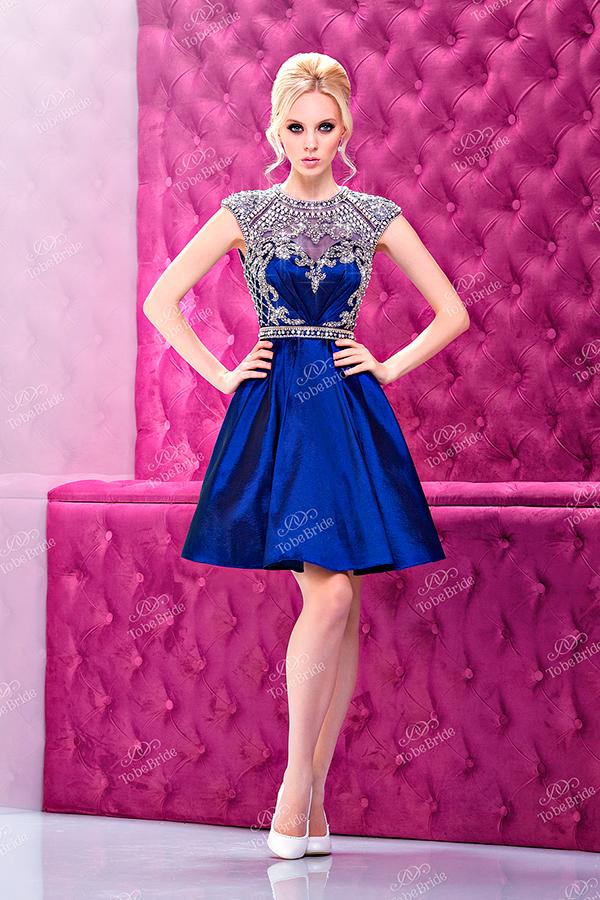 Платье лимбо голубое