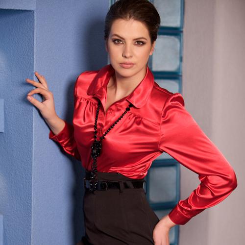 Красные Блузки Фото