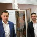 Владелец картин Андрей Ковалёв (слева) и организатор проекта коллекционер Григорий Гапонов