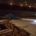 В прошлом году на купели у Димитровского моста установили ледяной светящийся крест