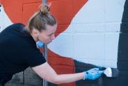 «Наследили»: дети раскрасили стены в Академгородке