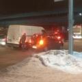 Одна из аварий произошла недалеко от метромоста
