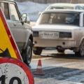 Проезд закрыли сегодня возле озера в посёлке Советский