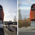 Слева фото с заправки на Фабричной, 57 сделано 16 октября, справа— 17 октября на Тайгинской,18