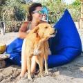 Юлия Бочинская на пляже