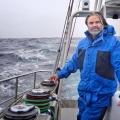 Деяк-старший на яхте Pelagic Australis