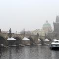Пражский Карлов мост зимой