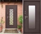 Входная дверь со стеклом - Изумруд Термо