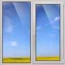 Окно пвх veka 1000х1000 мм двухстворчатое лг/по 3 стеклопакет