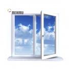 Окно ПВХ Rehau Blitz 1000х1000 (2С/3К) Поворот.