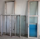 Две балконных двери «KBE» с рамами