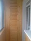 Обшивка балконов и лоджий.+ шкафы из вагонки