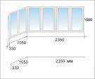 Продам алюминиевое балконное окно