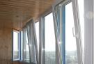 Балконы с поворотно-откидным открыванием с установкой