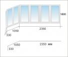 Алюминиевое раздвижное окно на балкон